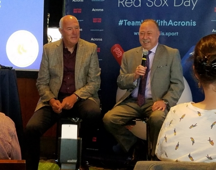 Bob Stanley and Jerry Remy at Acronis Red Sox Day